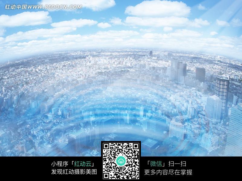 鸟瞰城市全景图图片 790747