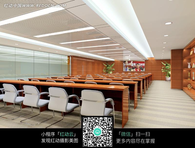白色地面的多功能厅效果图设计图片高清图片