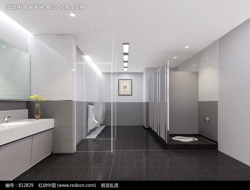 简约大气的公共卫生间设计设计图片 高清图片