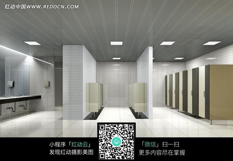 卫生间洗手间室内效果图宽敞的男士公共卫生间jpg 高清图片
