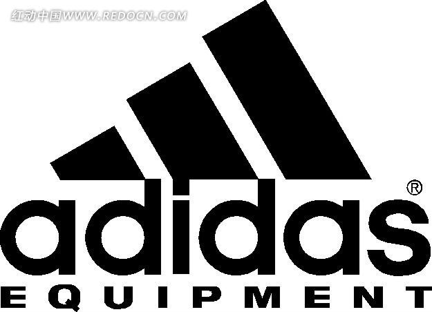 黑色阿迪达斯标志 设计 标志 logo 图标矢量图 高清图片