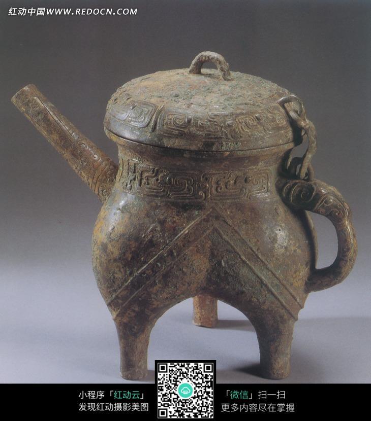 古代盛酒的青铜盉设计图片