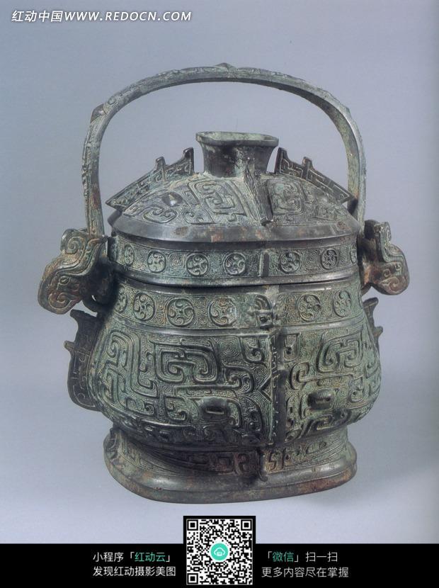 古代酒器青铜卣设计图片