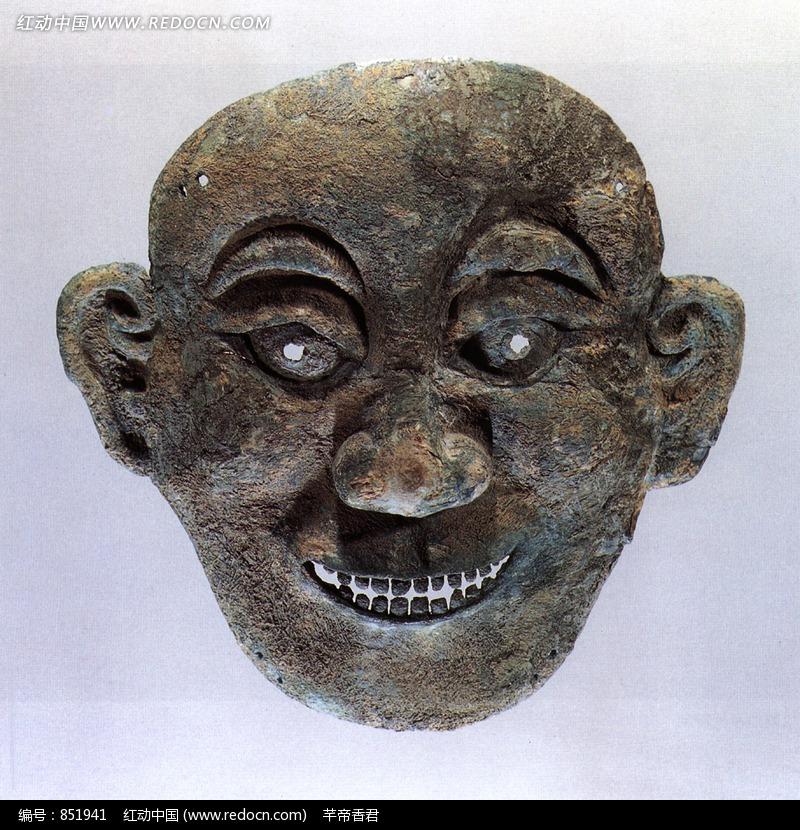 青铜面具设计图片