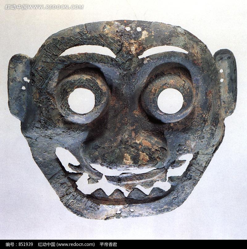 古代青铜面具设计图片