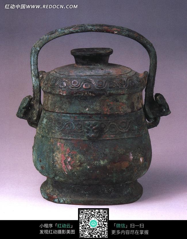 古代装酒容器青铜卣设计图片