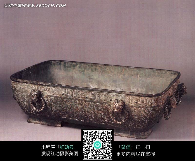 古代青铜盘设计图片
