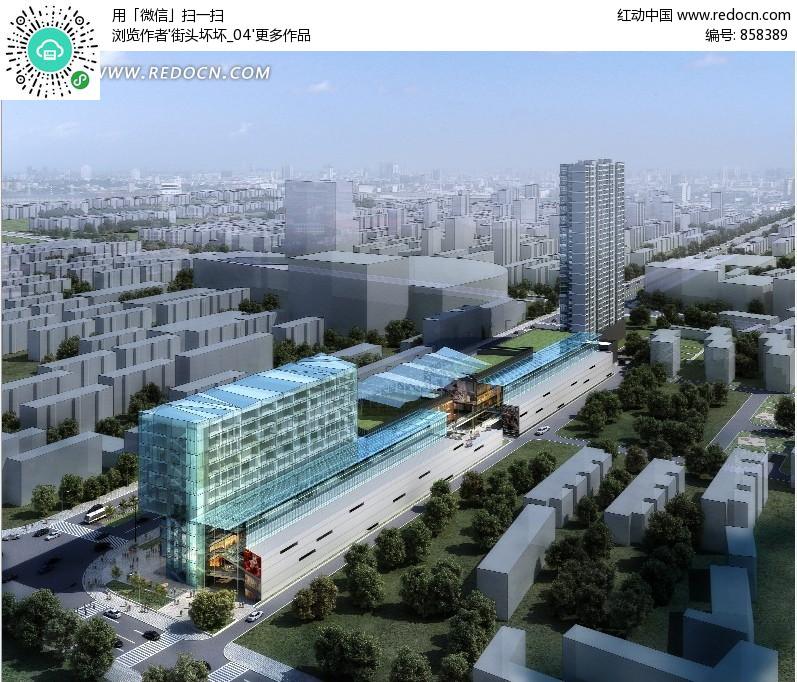 城市规划俯视效果图PSD素材 编号 858389 风景 PSD分层素材 PSD素高清图片