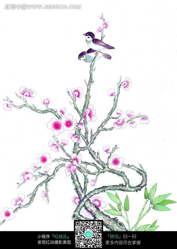 树上小鸟简笔画,小鸟 简笔画,小鸟在树上简笔画