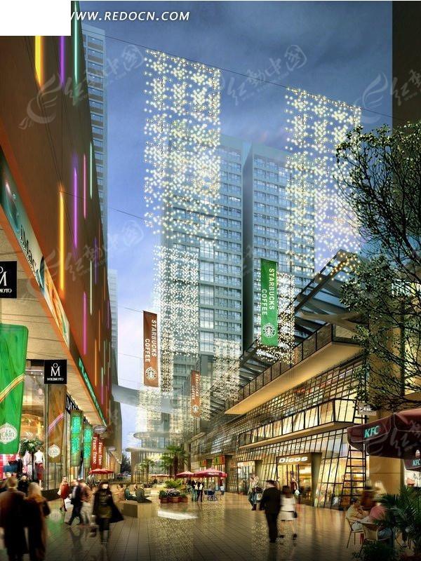 城市街景 ps建筑效果图 建筑psd分层素材下载 编号 869343 -城市街景图片
