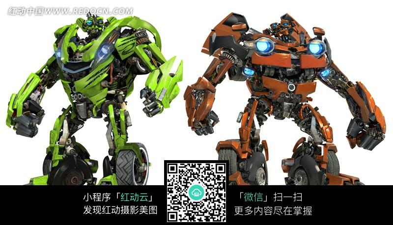 两个帅气的汽车机器人图片(编号:870887)