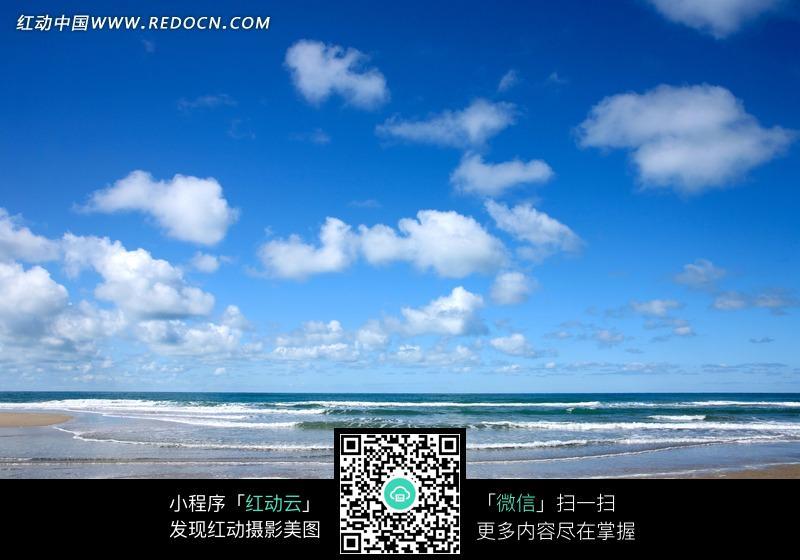 蓝天白云大海设计图片图片