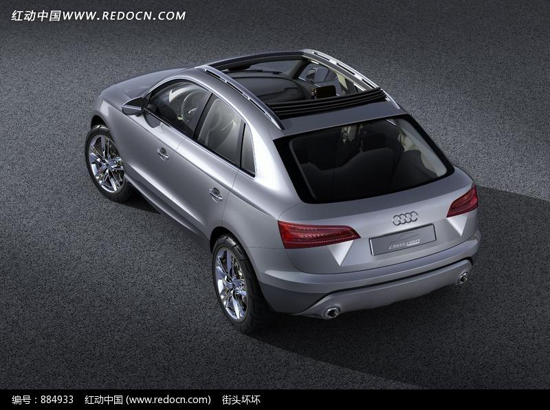 奥迪A8L汽车俯视图