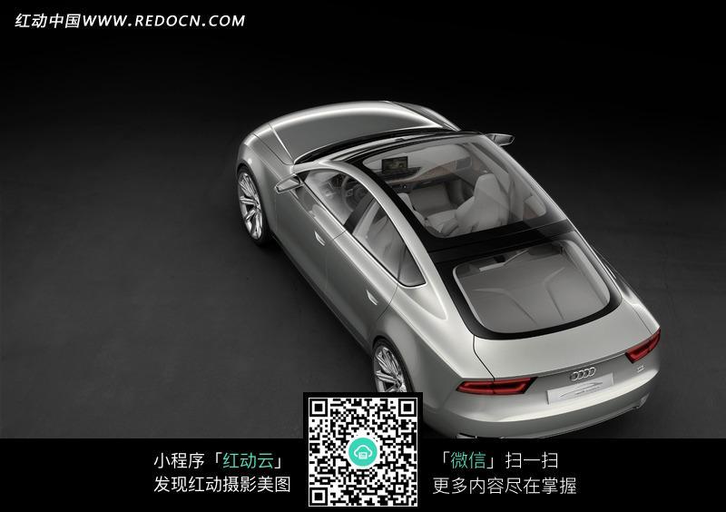 银色奥迪A8L汽车俯视图图片 编号 885421 交通工具 现代科技 图片素材高清图片
