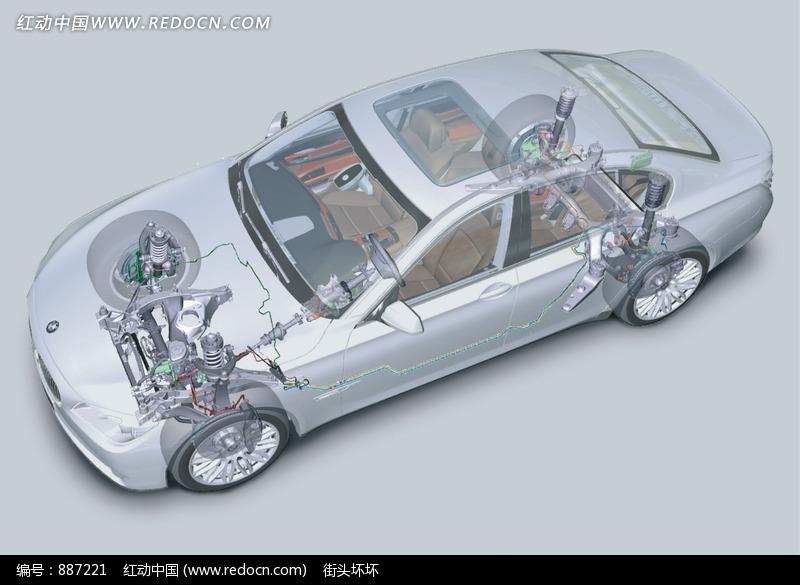 宝马汽车动力系统结构透视图图片高清图片