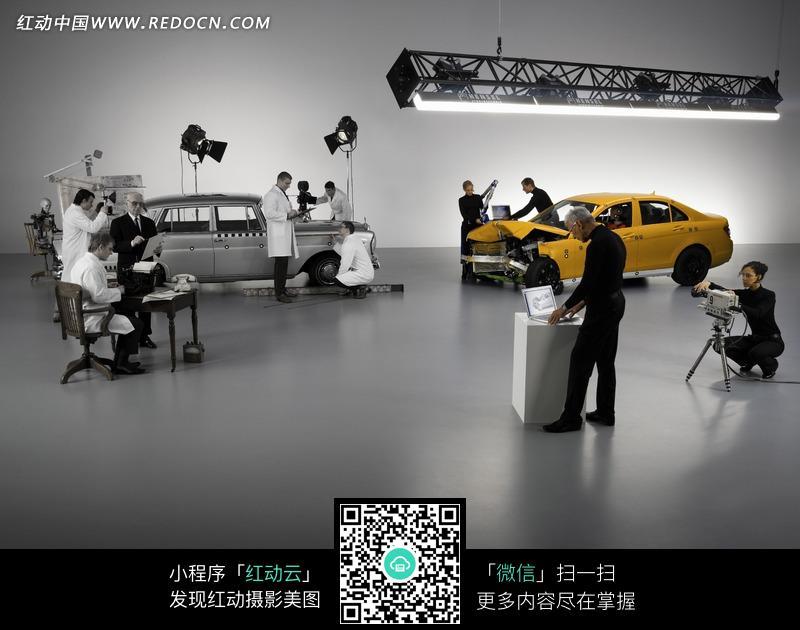 奔驰 汽车 碰撞实验 数据测试现场图片高清图片
