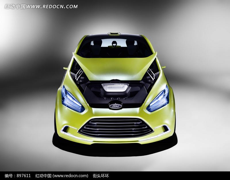 绿色福特iosis max概念车正面设计图片高清图片