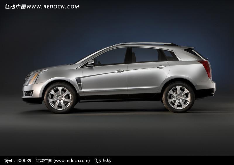 金属灰凯迪拉克srx汽车侧面图片高清图片