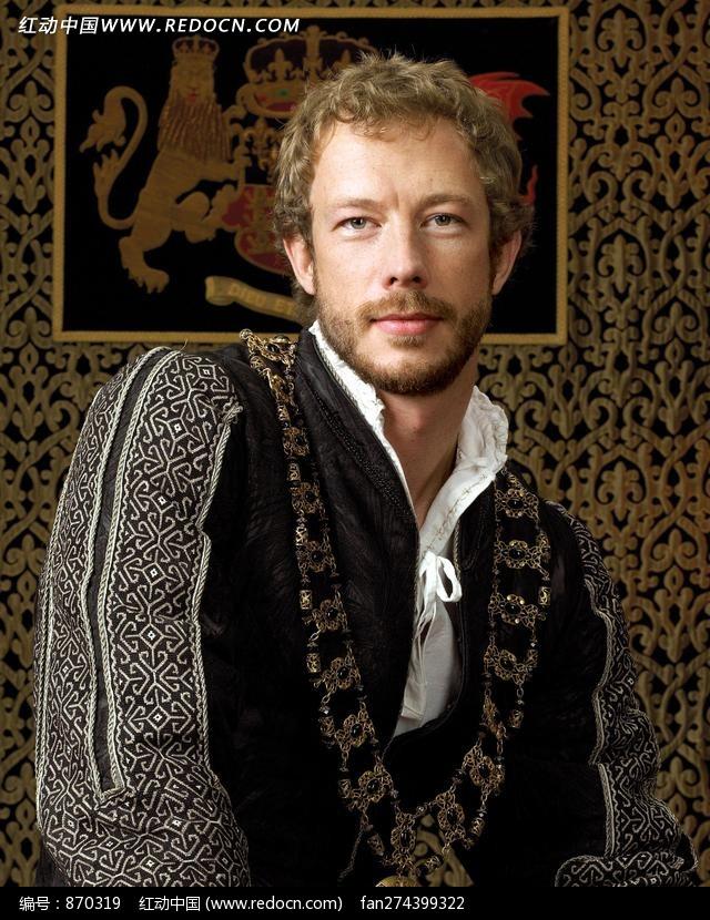 耸着肩膀的外国贵族人物图片(编号:870319)