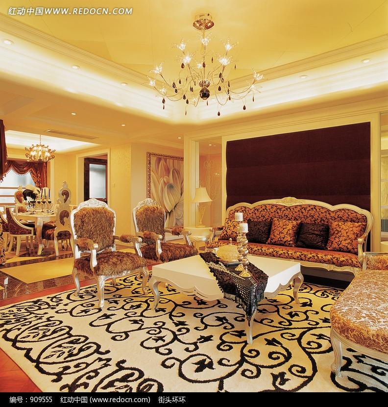 欧式古典风格客厅装修效果图设计图片图片