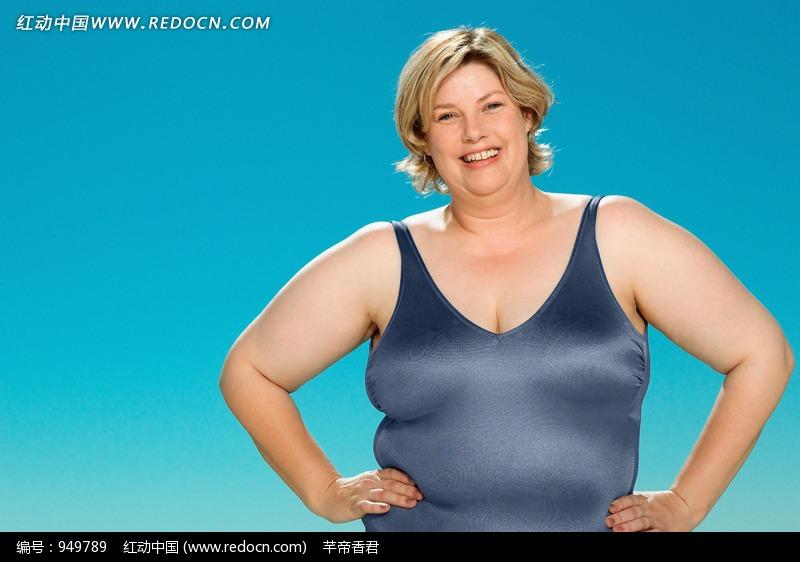 微笑叉腰的胖女人图片编号:949789 日常生活