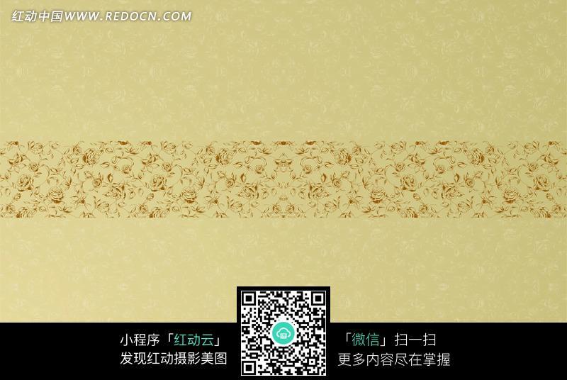 浅金色手绘玫瑰花纹图案图片(编号:966829)_底纹背景_背景花边_图片