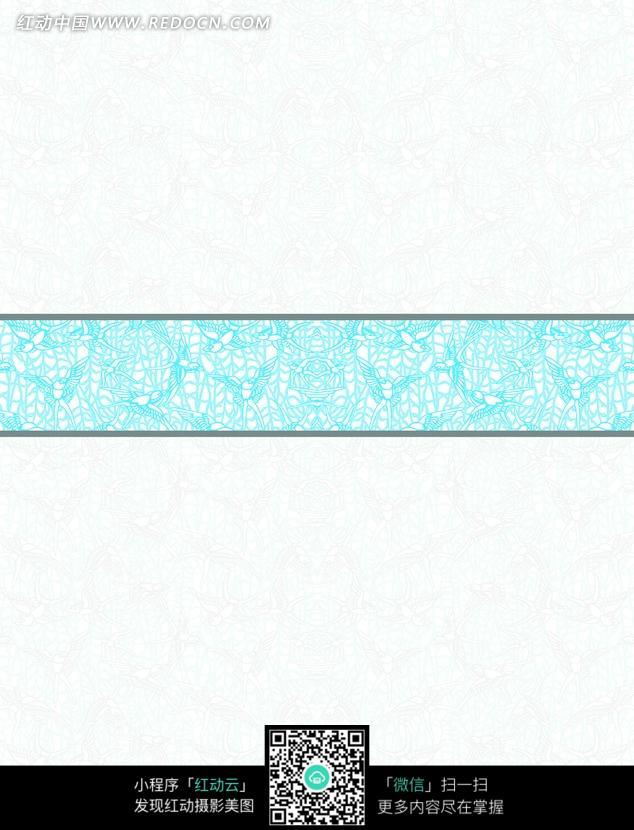 欧式蓝色边框底纹设计图片图片