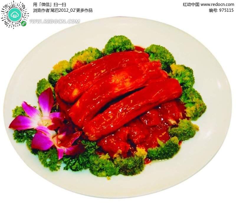 美食无锡排骨设计图片