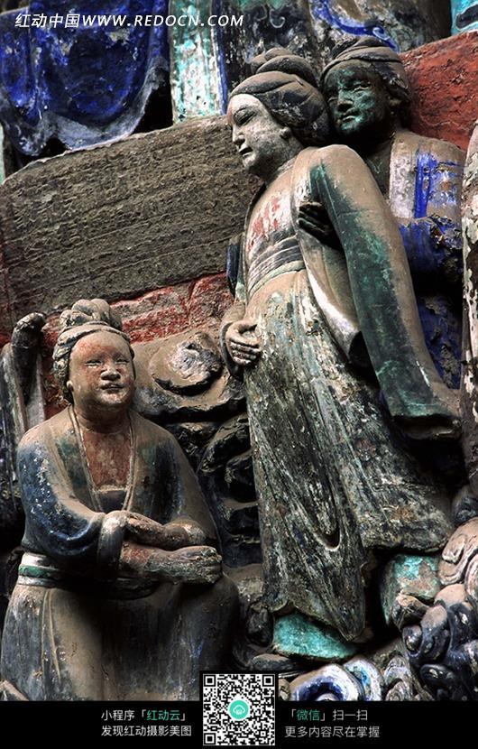 古典石雕人物设计图片