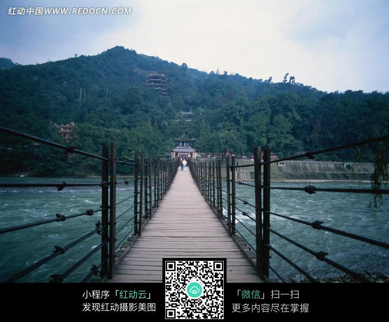 安澜索桥 四川都江堰设计图片