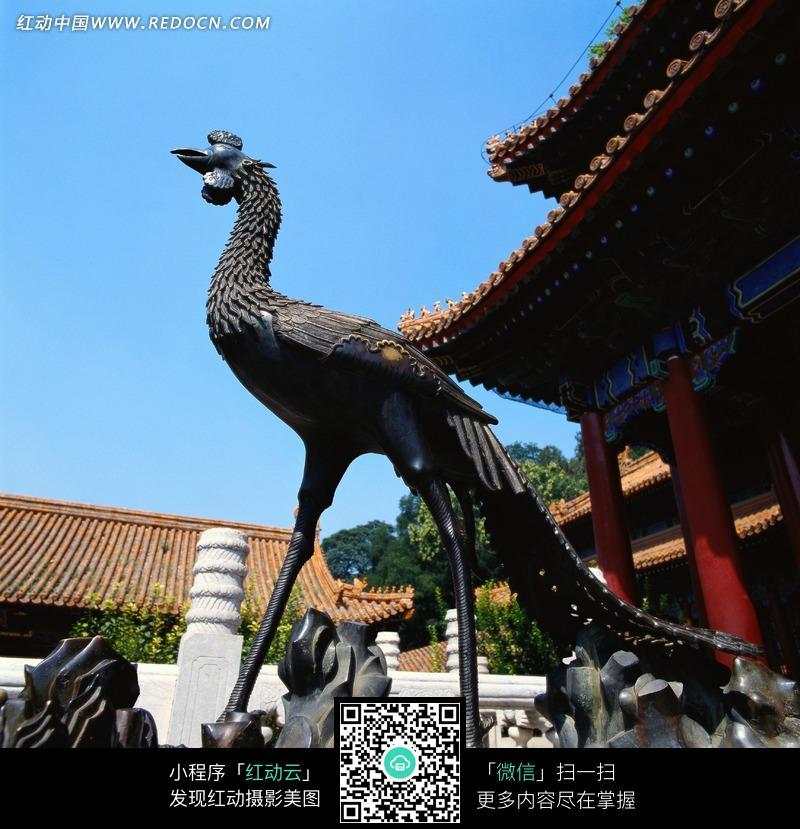 青铜雕塑朱雀设计图片