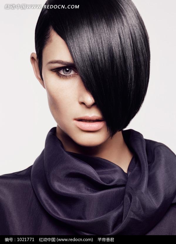 物素材酷炫发型外国女士