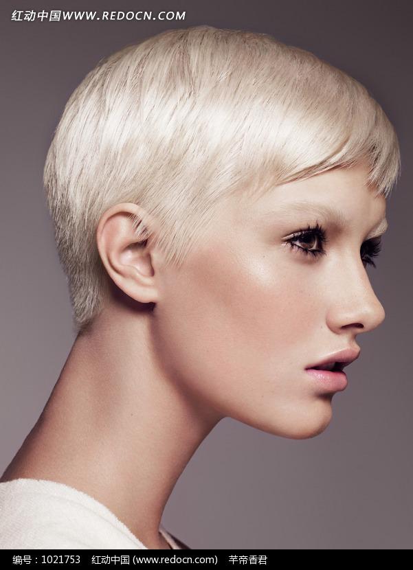 帅气潮流范短发发型外国美女图片图片