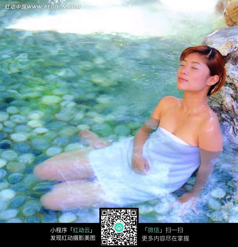 泡温泉的美女图片 人物图片素材|图片库|图库下载: