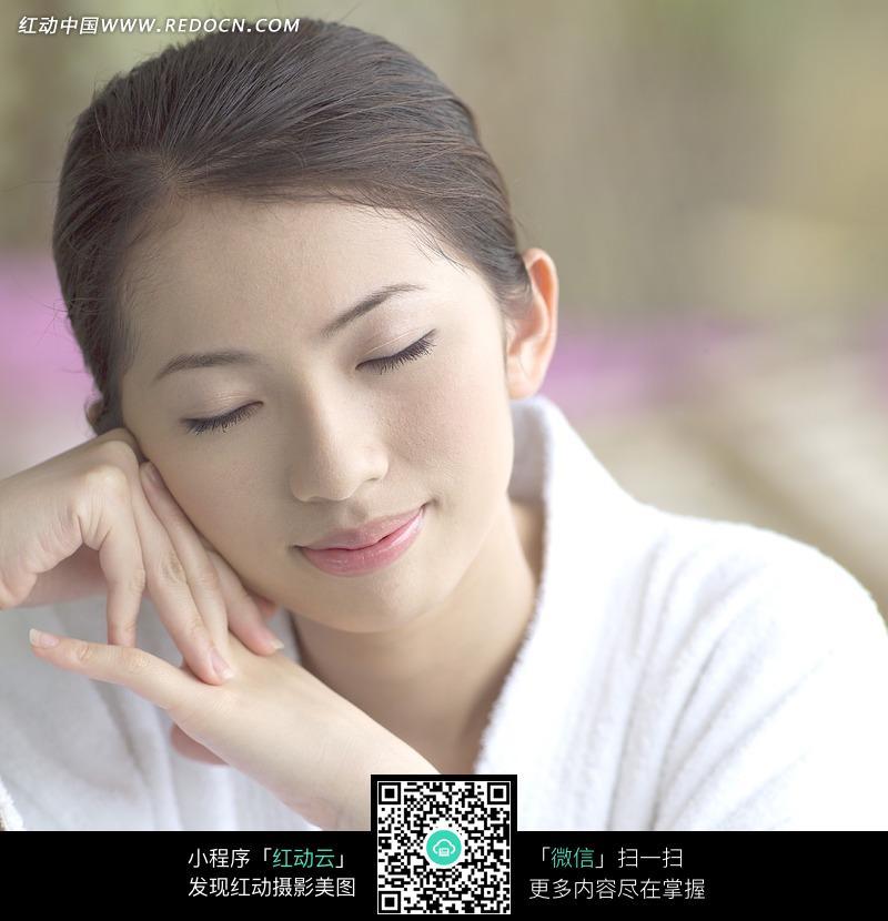 闭眼休息的美女图片图片 人物图片素材|图片库|图库
