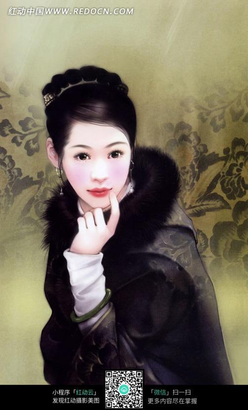 CG手绘古装美女图片设计图片