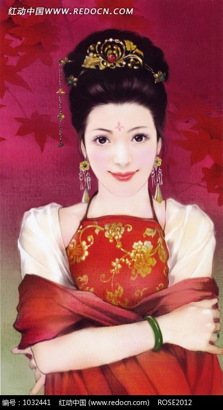 古装CG手绘美女设计图片
