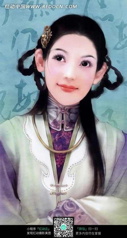 好看的手绘风格古装美女图片图片(编号:1032429)图片