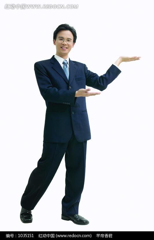 做请手势的商务人物设计图片