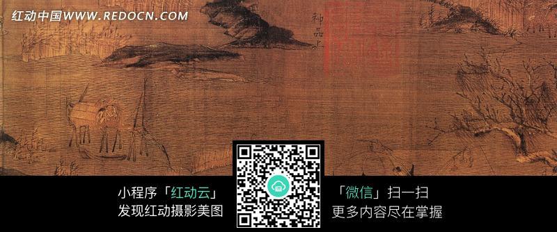 中国古画江行初雪图图片(编号:1085215)图片