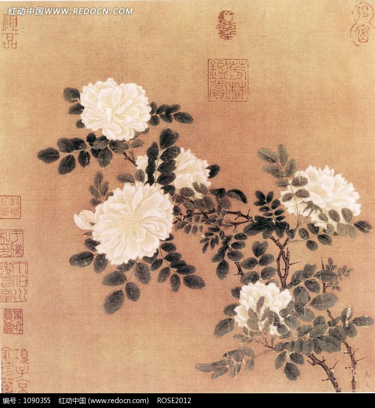 马远 白蔷薇图 图片 编号 1090355 书画文字 文化艺术 图