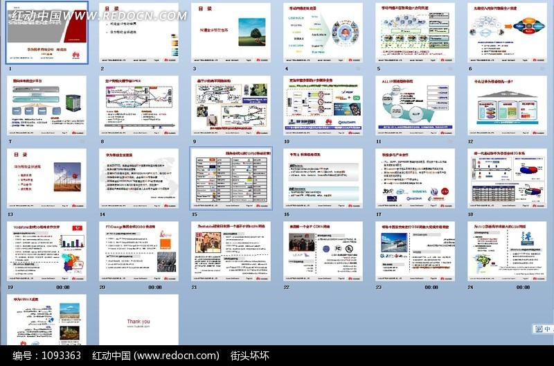 华为全IP战略宣讲PPT模板(编号:1093363)_企