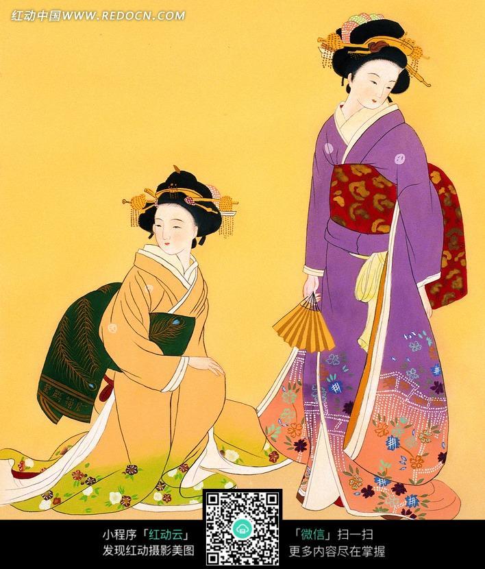 关键词:两个女子和服美女