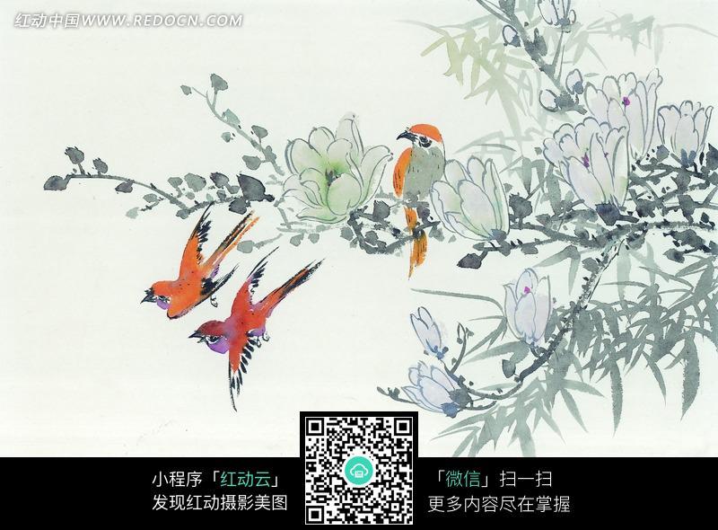花鸟工笔画图片 传统书画 吉祥图案 艺术图片下载 1097239