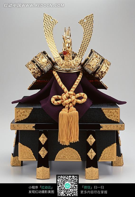 日本将军头盔和盔甲宝盒图片 生活用品|日常生