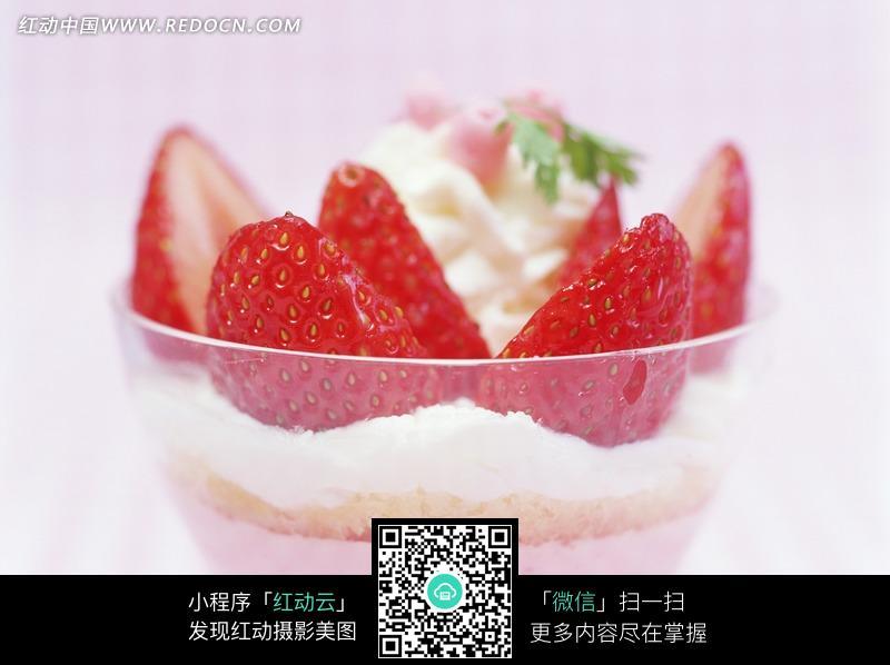 奶油草莓冰淇淋图片 编号 1196357 水果蔬菜 餐饮美食 图片素材 -奶油