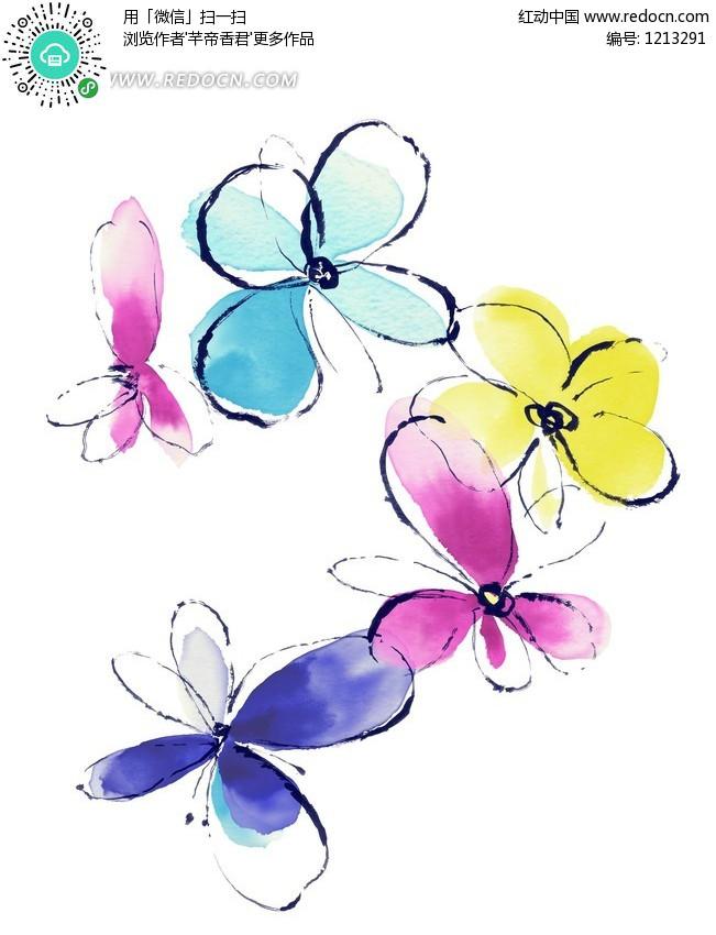 花纹花朵 装饰修饰 hanmaker韩国设计素材库