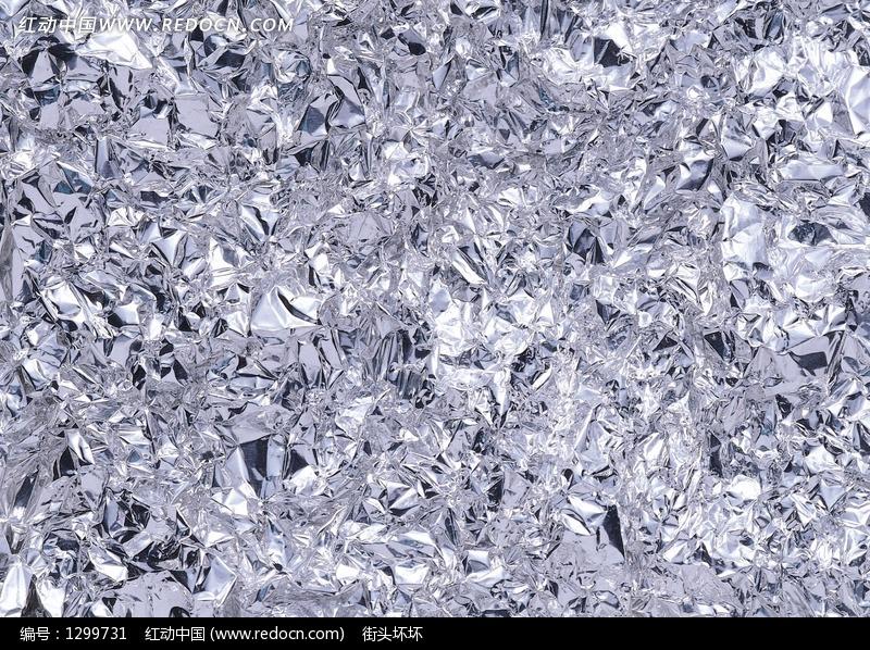 银色褶皱锡纸设计图片