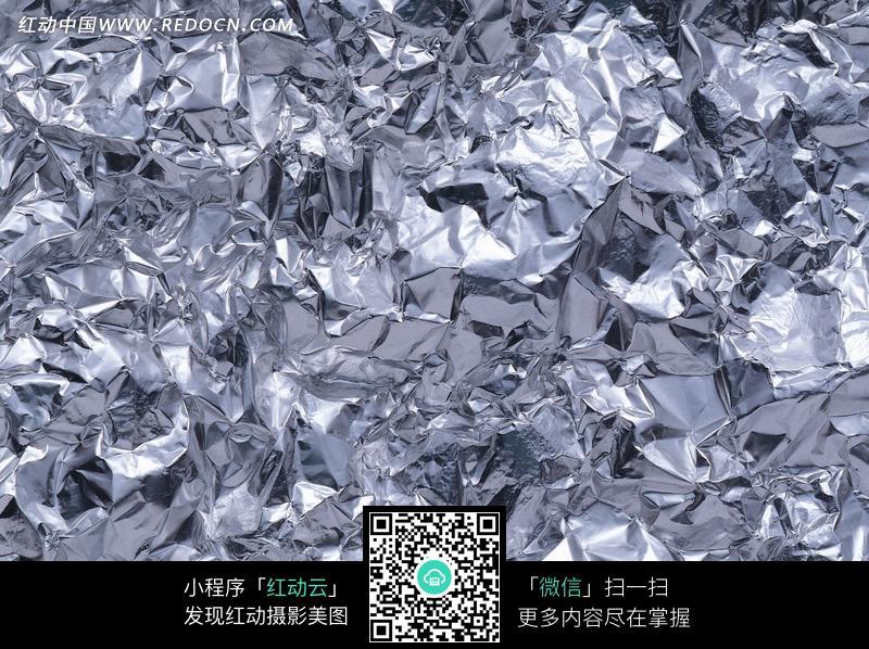 银色皱纹锡纸图片(编号:1299717)