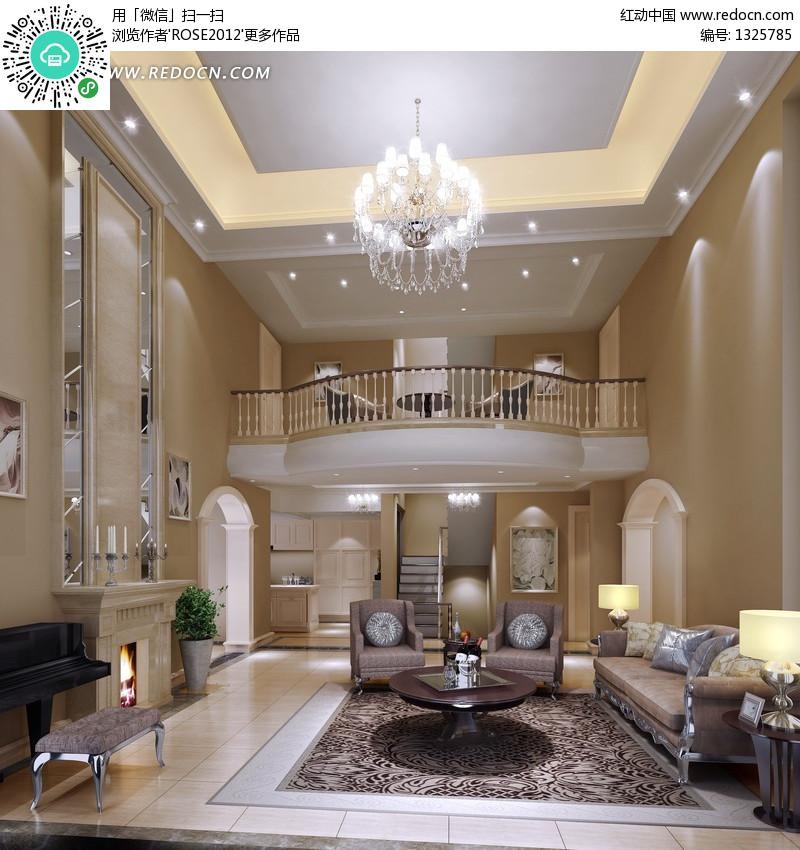 豪华客厅室内装修设计效果图设计图片图片